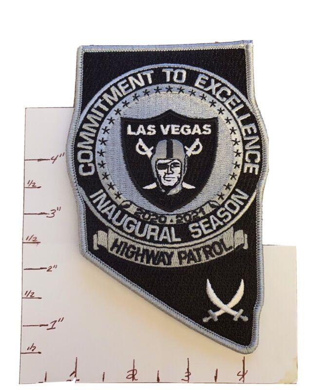 Nevada Highway Patrol Public Safety Las Vegas Raiders Police Patch NV  Rare