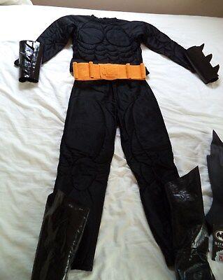 Authentic Batman Costume (Batman Costume w/Cape and Authentic Rubber Mask for 6/7 Yr)