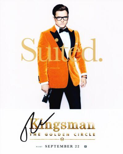 Taron Egerton Signed 10X8 PHOTO Kingsman: The Golden Circle AFTAL COA (5242)