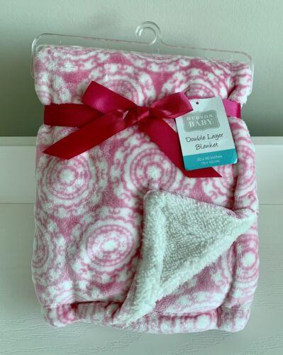 Hudson Baby Sherpa Backed Blanket - Medallion