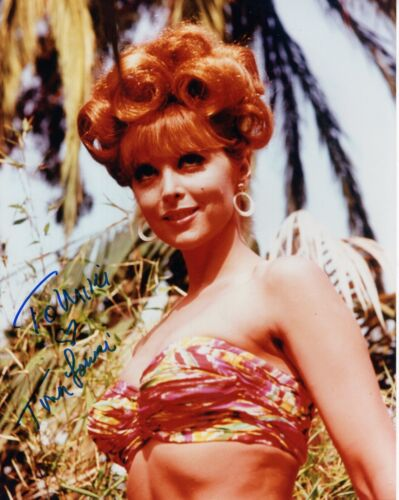 TINA LOUISE HAND SIGNED 8x10 COLOR PHOTO+COA       SEXY GINGER     TO MIKE