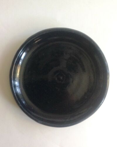 "Bybee Pottery 8 1/2"" Plate Dark Blue Marked BB"