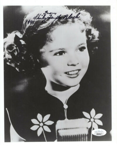SHIRLEY TEMPLE BLACK HAND SIGNED 8x10 PHOTO       ADORABLE CHILD ACTRESS     JSA