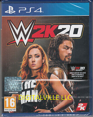 WWE 2K20 PS4 PlayStation 4 Brand New Factory Sealed
