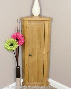 Solid Oak Corner Telephone Cabinet Storage Unit  Plant Stand 100% Solid Oak
