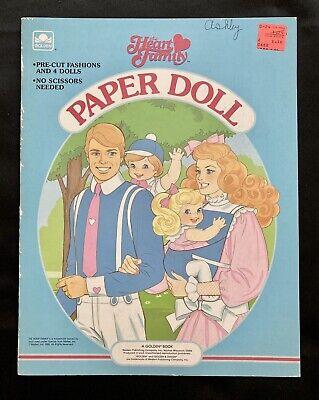 Mattel's The Heart Family Paper Doll Book, Whitman 1985, Uncut