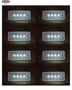 8X-12V-4SMD-LED-BLANCA-INTERMITENTE-LATERAL-LUCES-PARA-IVECO-DAF-MAN-SCANIA