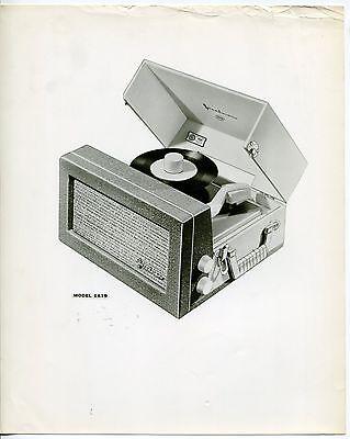 Vintage Original Photo: STEELMAN Record Player MODEL 1A19