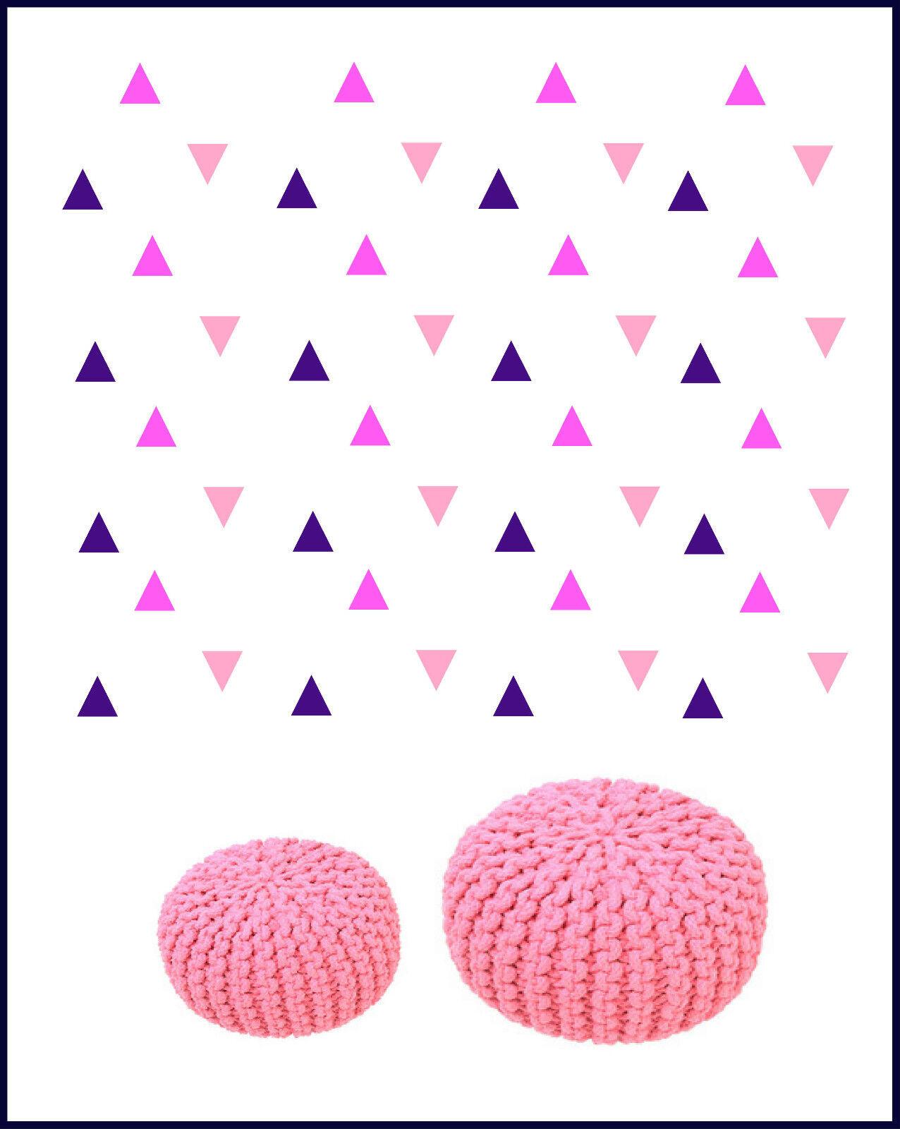 Dreieck Wandtattoo Aufkleber Sticker Dreiecke Geometrische Figuren Kinderzimmer