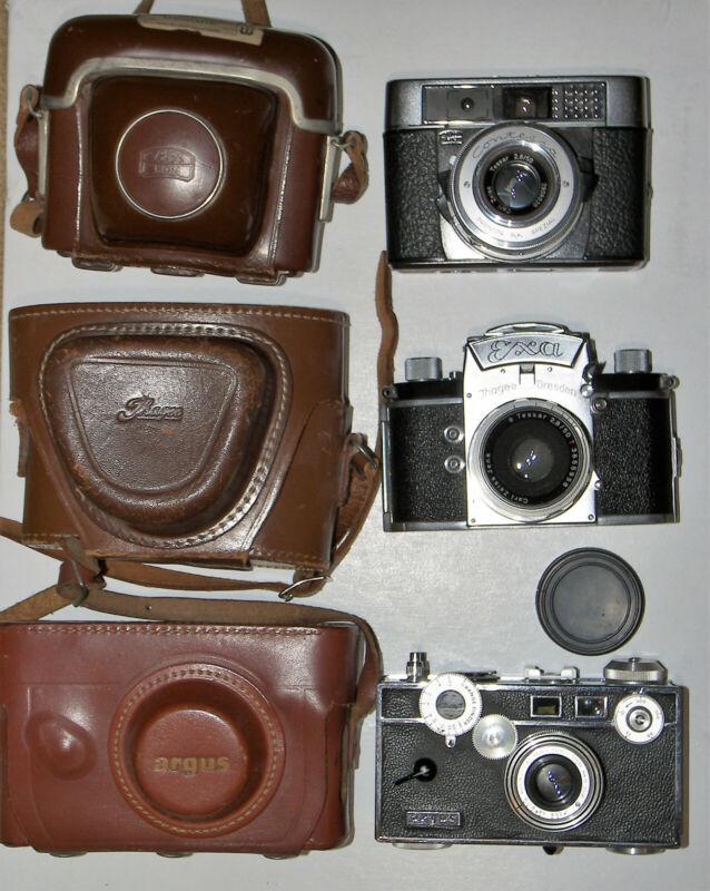 Exa 35mm SLR+ Zeiss Ikon Contessa  non folding+ Argus C-3