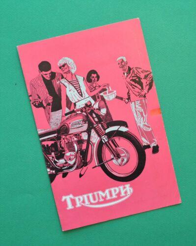 Original 1963 Triumph Motorcycle Brochure Tiger Thunderbird Bonneville Trophy