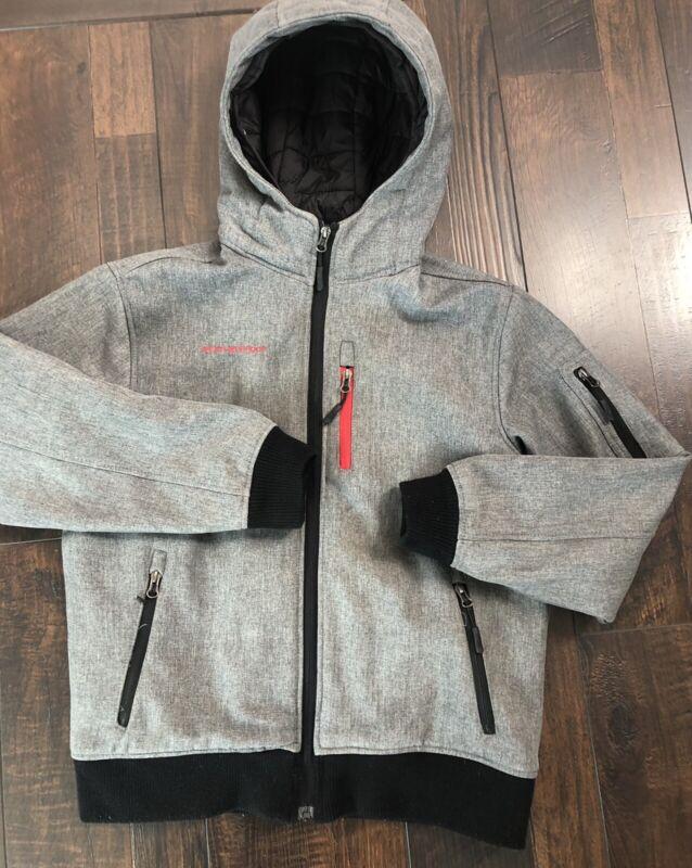Boys Weatherproof Size Large 12/14 Winter Jacket Coat Hood Gray