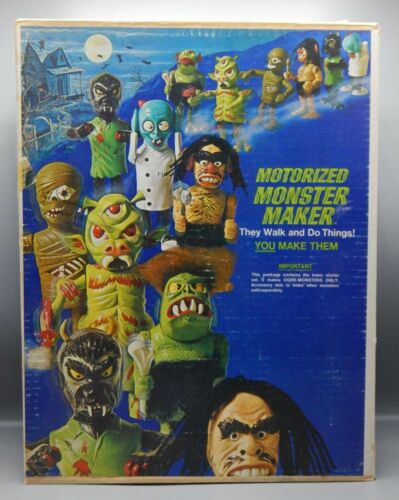 1960s vintage Topper MONSTER MAKER toy playset in original box NICE CONDITION !!