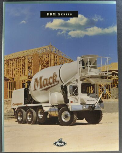 1996-1997 Mack FDM Cement Truck Catalog Sales Brochure Excellent Original