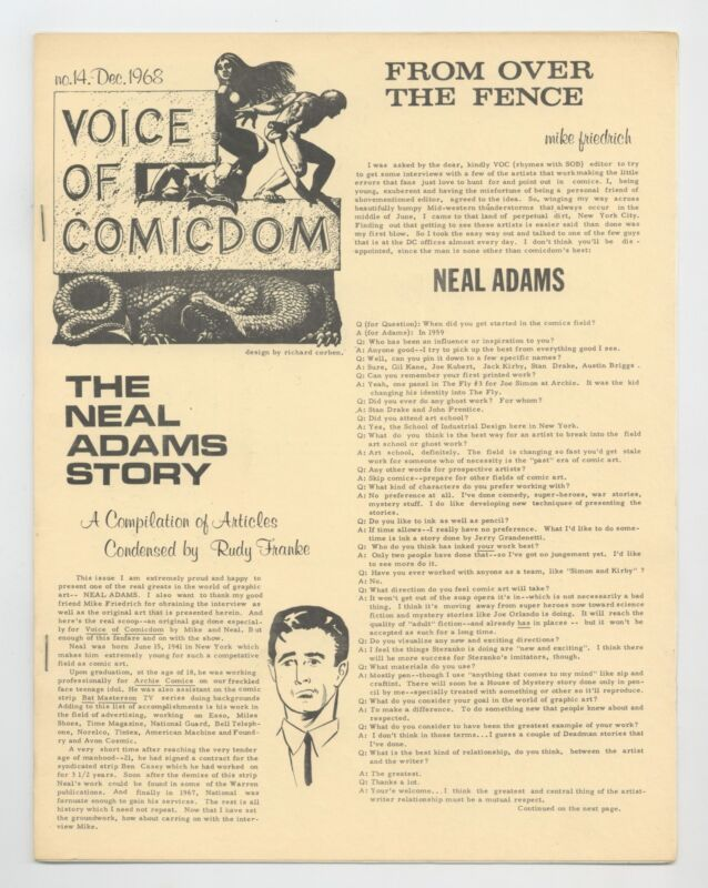 Voice of Comicdom #14 VF 8.0 1968