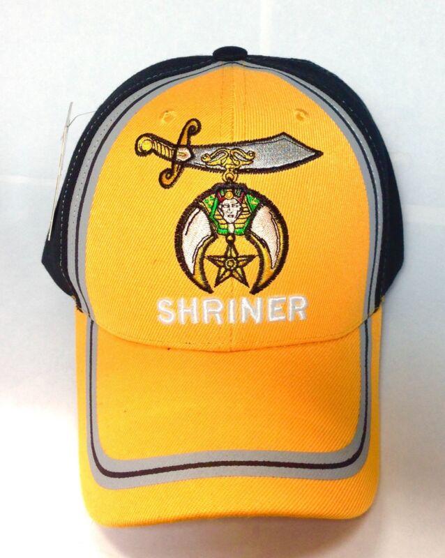 Shriner Cap, Freemason, Mason Cap, 2tone Color Gold And Black