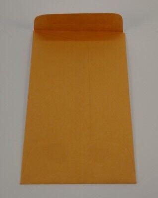 Lot Of 50 No.1 Kraft Manila Coin Envelope 2.25 X 3.5 Credit Card Seed Gummed Key