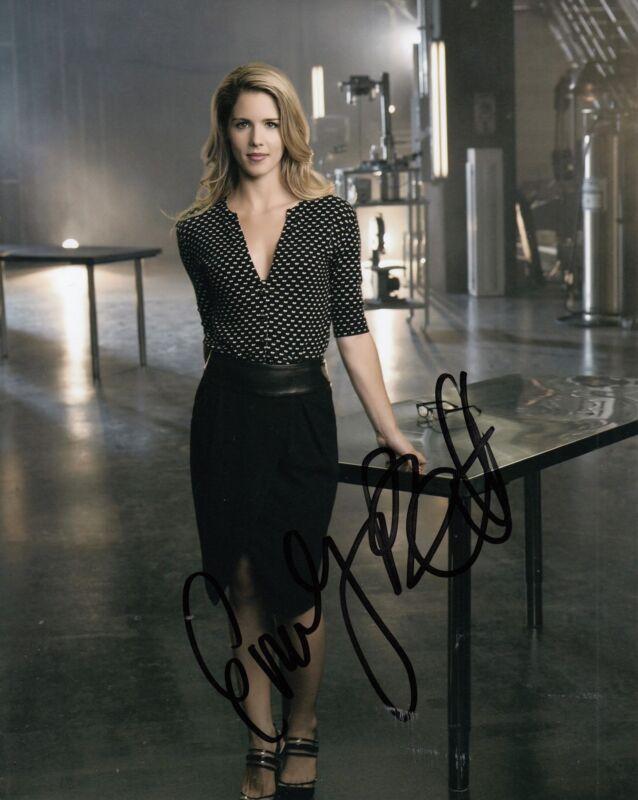 EMILY BETT RICKARDS signed (ARROW - THE FLASH) Actress 8X10 photo W/COA #2