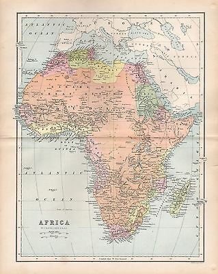 1875 ANTIQUE MAP - AFRICA
