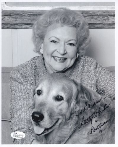 BETTY WHITE autographed 8x10 photo     THE GOLDEN GIRLS     To Brian     JSA COA