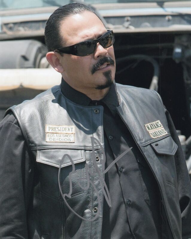 Emilio Rivera Sons of Anarchy TV Show Marcus Alvarez Signed 8x10 Photo w/COA #8