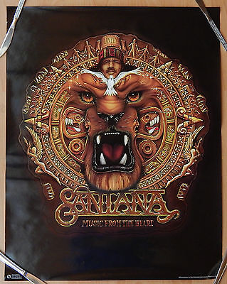 CARLOS SANTANA LION HEAD UNITY 22X28 POSTER MUSIC FROM THE HEART ORIGINAL unused ()