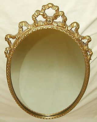 Superb Antique Style  PETITE Oval Gilt Mirror (a35)