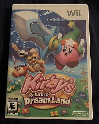 KIRBY'S RETURN TO DREAM LAND WII WITH MANUAL RARE VIDEO GAME