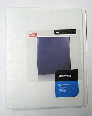 Staples Mini View Window Binder 12 Round Ring 5.5 X 8.5 Pvc Free White 0.5