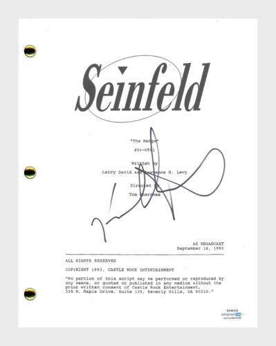 Jason Alexander Signed Autographed Seinfeld The Mango Episode Script ACOA COA