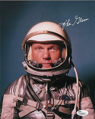 John H. Glenn Mercury astronaut vintage hand SIGNED astronaut photo JSA COA