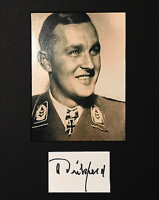 Luftwaffe Adolf Dickfeld WWII Ace 136 Vic Battle of Britain Knights Cross SIGNED