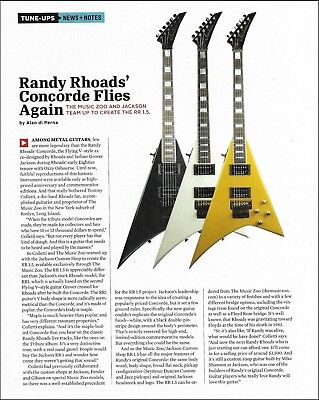 Randy Rhoads Jackson RR 1.5 Concorde Flying V reissued guitar full page article segunda mano  Embacar hacia Argentina