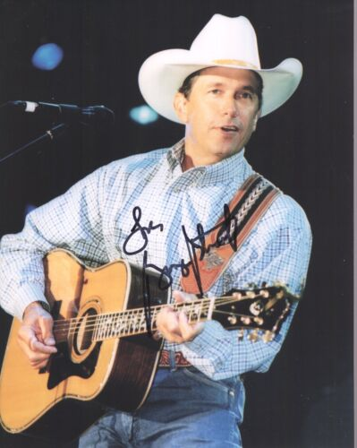 GEORGE STRAIT HAND SIGNED 8x10 COLOR PHOTO+COA         HANDSOME COUNTRY SINGER