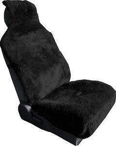 LUXURIOUS Sheepskin Black Wrap Seat Cover Airbag Ready One Piece