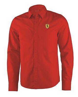 SHIRT Mens Scuderia Ferrari Classic Cotton Longsleeve Formula One 1 NEW!