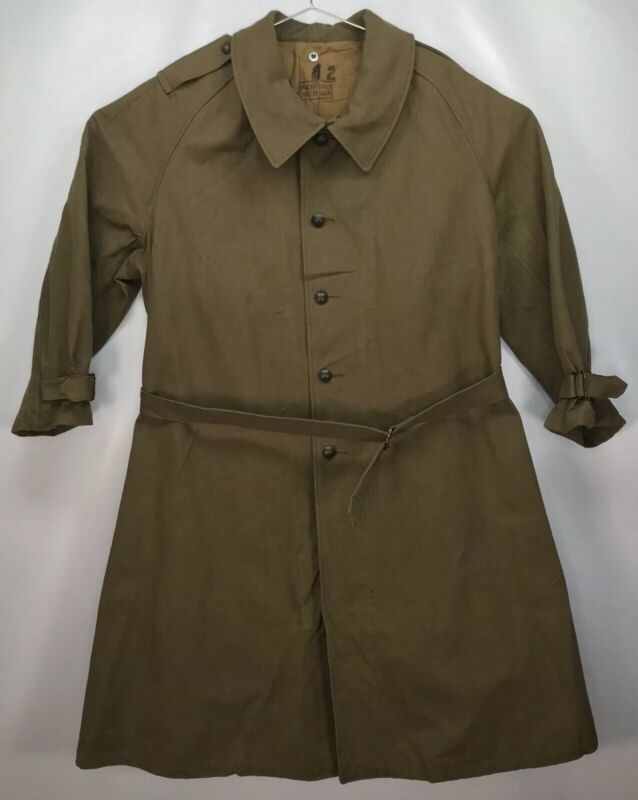 42 French Armee WWII Canvas Overcoat Paulhan & Fils Montpellier Motorized Troops