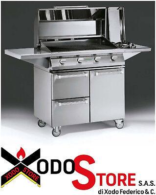 Barbecue a gas in acciaio inox PALAZZETTI modello ALAIN - invia mail...