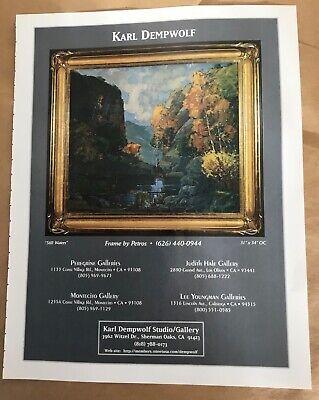 Karl Dempwolf painting gallery exhibition ad 1999 vintage art magazine print CA