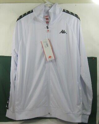 3502050-  Kappa vintage WHITE BLACK  track jacket Size  XL ***