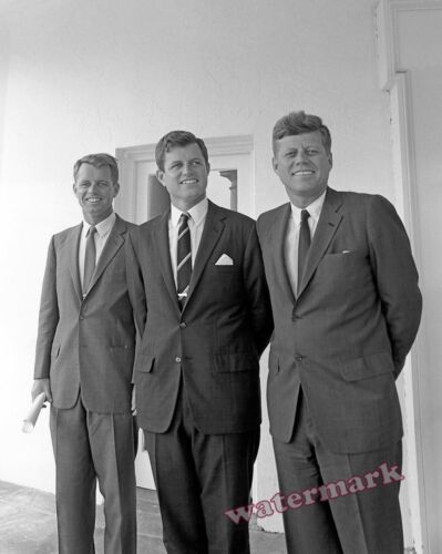 Photograph Robert - Ted and President John Kennedy at the White House 1963 8x10