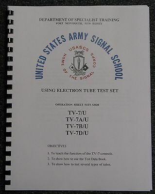 Usa Ultimate Tv-7du Tv-7 Manual How To Use Tube Tester Instructions