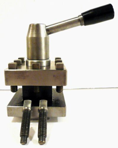 "Lathe 3"" Square Quick Change Tool Post - Clamps Holders up to 1-1/16"" High Clean"