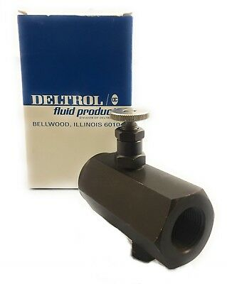 Deltrol 34 Hydraulic In-line Flow Control Throttle Check Valve 5000psi