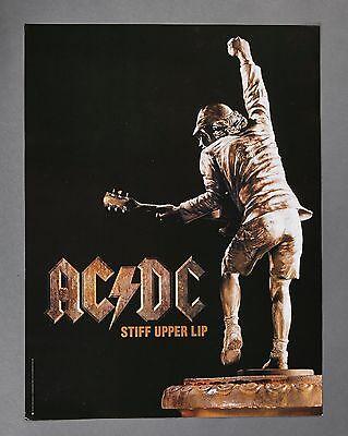 AC/DC 2000 Stiff Upper Lip Angus Statue Original Promo Poster rare free shipping