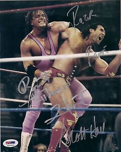 Bret-Hart-Razor-Ramon-Signed-WWF-WWE-8x10-Photo-PSA-DNA-COA-w-Scott-Hall-Hitman