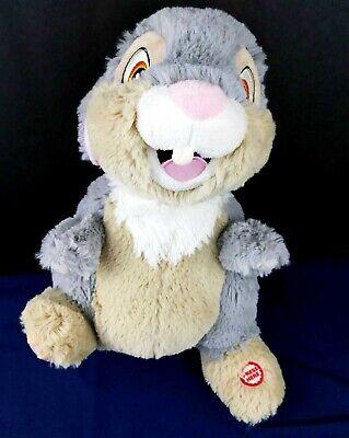 Disney Bambi Thumpin' Thumper Talking Plush Thumps His Foot Rabbit Hallmark Soft