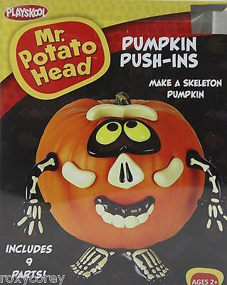 Halloween Mr Potato Head Pumpkin Push In Skeleton Costume 9 Parts - Skeleton Parts Halloween