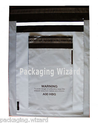 30 x Biodegradable Mailing / Postal Bags ~ Grey ~ Self Seal ~ Mixed Sizes
