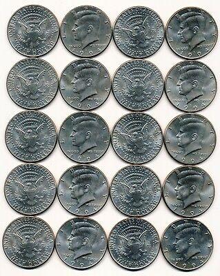 1994 D KENNEDY HALF DOLLAR ROLL 20 COINS $10 ROLL